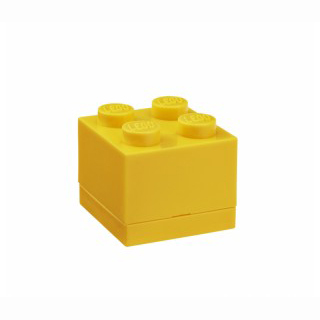 LEGO mini box 4 4,6 x 4,6 x 4,3 cm - žltá