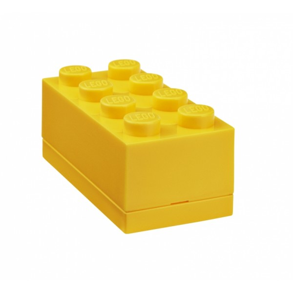 LEGO mini box 8 4,6 x 9,2 x 4,3 cm - žltá