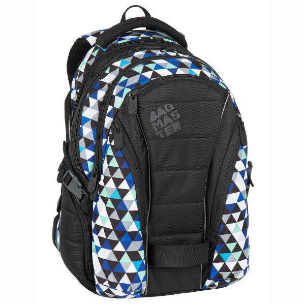 "Bagmaster trojkomový batoh s vreckom na notebook 15,4"" - a BAG 7 I BLACK/BLUE/GREY"
